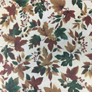 FLANNEL BACK TABLECLOTH, FALLING LEAVES, 54