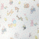 FLANNEL BACK TABLECLOTH, CHILDREN'S ANIMALS, 54