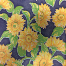 FLANNEL BACK TABLECLOTH, SUNFLOWER BLUE, 54