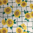 FLANNEL BACK TABLECLOTH, SUNFLOWER WHITE, 54