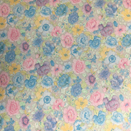 FLANNEL BACK TABLECLOTH, PASTEL BOUQUET, 54