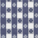 FLANNEL BACK TABLECLOTH, TAVERN CHECK NAVY, 54