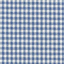 FLANNEL BACK TABLECLOTH, GINGHAM BLUE CHECKER, 54