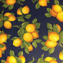 FLANNEL BACK TABLECLOTH, BLUE LEMONS, 54