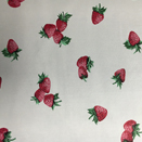 FLANNEL BACK TABLECLOTH, STRAWBERRY WHITE, 54