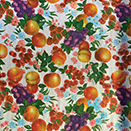 FLANNEL BACK TABLECLOTH, FLOWERS & FRUIT, 54