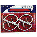TABLE COVER CLIPS, WHITE DISPOSABLE PLASTIC, SET/64