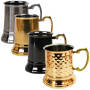 16 OZ TANKARDS, STAINLESS STEEL