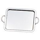 RECTANGULAR TRAY WITH HANDLES, SILVERPLATE