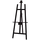 WRITE-ON BOARD HOLDER, TRIPOD DISPLAY EASEL, MAHOGANY, WOODEN