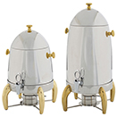 VIRTUOSO COFFEE URNS, STAINLESS WITH GOLD ACCENTS