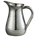 PITCHER, HAMMERED DESIGN, STAINLESS STEEL