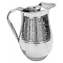 2 QT./64 OZ. HAMMERED WATER PITCHER W/ICE GUARD