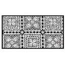 VINYL LACE RUNNER ROLL, WHITE SQUARES, 54