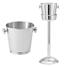 WINE BUCKET AND STAND, 18/10 STAINLESS