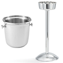 WINE BUCKET AND STAND, 18/10 MIRROR FINISH STAINLESS