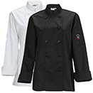 WOMEN'S CHEF JACKET, TAPERED FIT, BLACK