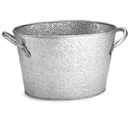 OVAL BEVERAGE TUB, GALVANIZED STEEL,  15 X 9 X 7-1/2
