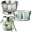 HAMMERED ICE BUCKET & PARTY TUBS - 20.5