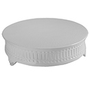 CONTEMPORARY ROUND CAKE STANDS, WHITE POWDER COATED - 18