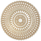GLASS CHARGER PLATE, ROSE WITH WHITE LACE DESIGN, SET/4