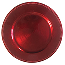 RED BEADED CHARGER PLATE, 13