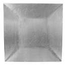 ACRYLIC SQUARE CHARGER PLATE, SILVER