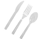 CLEAR PLASTIC CUTLERY (DISPOSABLE)