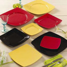 COLOR SQUARE PLATES