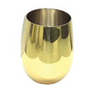 16 OZ DOUBLE WALL STEMLESS WINE GLASS, STAINLESS STEEL WITH GOLD FINISH