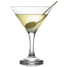 6 1/2 OZ. MARTINI GLASS, CASE/2 DOZ