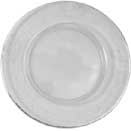 GLASS CHARGER PLATE, PLAIN RIM WITH SILVER EDGING DESIGN, SET/4