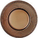 GLASS CHARGER PLATE, ROYAL BROWN DESIGN, SET/4
