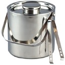 3 QT. ICE BUCKET W/TONGS, STAINLESS STEEL