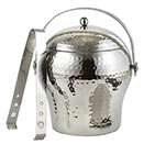 1.5 QUART DW HAMMERED BELLY ICE BUCKET WITH TONG, 6