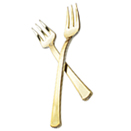SERVING CUTLERY, GOLD DISPOSABLE PLASTIC - 4