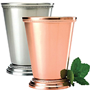 MINT JULEP CUPS, 12 OZ., COPPERPLATE, STAINLESS STEEL