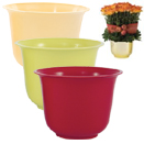 HEAVY DUTY PLASTIC MEDIUM SPUN PLANTER POT, 5.5