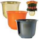 HEAVY DUTY PLASTIC LARGE SPUN PLANTER POT, 6