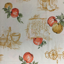 FLANNEL BACK TABLECLOTH, APPLES, 54