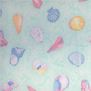 FLANNEL BACK TABLECLOTH, SEA SHELLS, 54