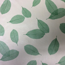 FLANNEL BACK TABLECLOTH, GREEN LEAVES, 54