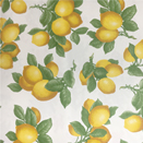 FLANNEL BACK TABLECLOTH, WHITE LEMONS, 54