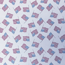FLANNEL BACK TABLECLOTH, USA FLAGS BIEGE, 54