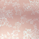 FLANNEL BACK TABLECLOTH, ROSE LACE, 54