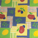 COMMERCIAL GRADE TABLECLOTH WITH NON-WOVEN PP BACKING, APPLE QUILT, 54