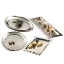 HAMMERED DESIGN TRAYS, STAINLESS STEEL - 23.75