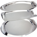 STAINLESS TRAYS WITH HANDLES