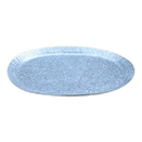 OVAL GALVANIZED PLATTER WITH GOLD BEAD EDGE