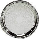 GADROON EDGE TRAYS, SILVERPLATE - 8